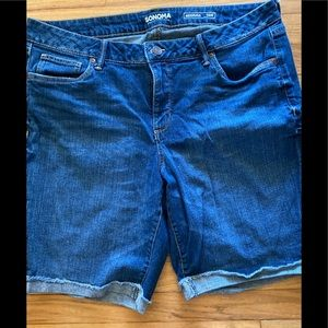 Sonoma Denim Shorts Size 16W